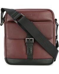 Cerruti 1881 Buckled Messenger Bag - Red