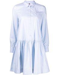 Tommy Hilfiger ボタン シャツドレス - ブルー