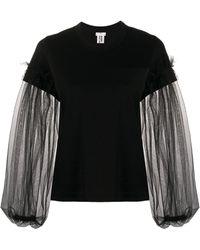 Comme des Garçons シアースリーブ スウェットシャツ - ブラック