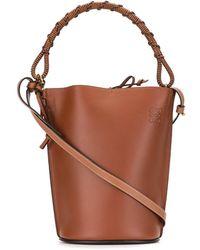 Loewe ロゴ バケットバッグ - ブラウン