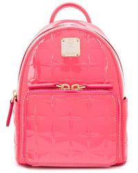 MCM Stark Bebe Boo Backpack - Pink