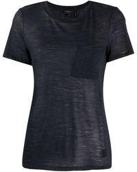 Theory パッチポケット Tシャツ - ブルー