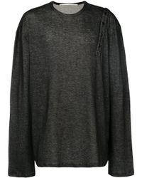 Isabel Benenato - Loose Buttoned Shoulder Sweater - Lyst