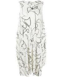 Pleats Please Issey Miyake - Плиссированное Платье Миди Conductor - Lyst