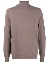 Theory Roll-neck Cashmere Jumper - Brown