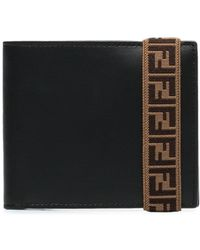 Fendi Portemonnaie mit FF-Schlaufe - Schwarz