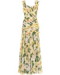 Dolce & Gabbana - Вечернее Платье С Цветочным Принтом - Lyst