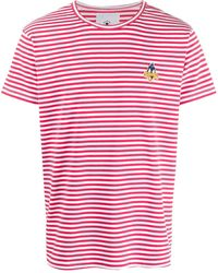MOA Daffy Duck Embroidery Cotton T-shirt - Red
