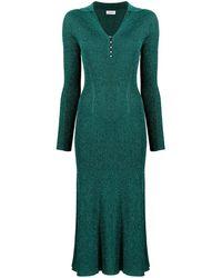Lanvin メタリック ドレス - グリーン