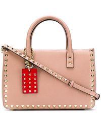 Valentino Small Valentino Garavani Rockstud Tote - Pink
