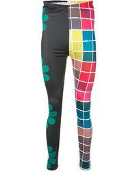Walter Van Beirendonck Save Earth Paneled leggings - Multicolor