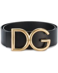Dolce & Gabbana Gürtel mit Logo-Schnalle - Schwarz