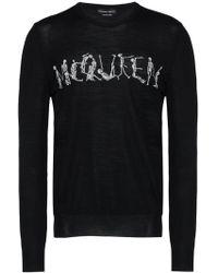Alexander McQueen Dancing Skeleton Crew-neck Sweater - Zwart
