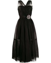 Pinko Vestido de tul sin mangas - Negro