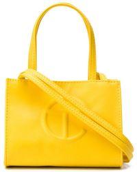 Telfar Embossed Logo Tote Bag - Yellow