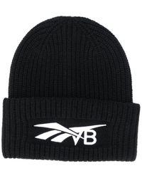 Reebok X Victoria Beckham ウール&カシミア 刺繍 ビーニー帽 - ブラック