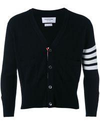 Thom Browne Four stripe sleeve cardigan - Nero