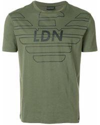 Emporio Armani - Ldn Printed T-shirt - Lyst