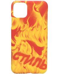 Heron Preston Iphone 11 Pro Mac ケース - オレンジ