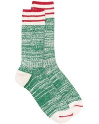 Thunders Love Calcetines Nautical Turn a rayas - Verde
