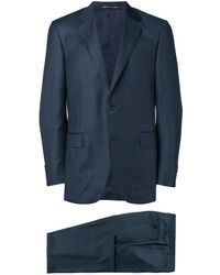 Canali Pinstripe formal suit - Bleu