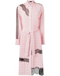 JOSEPH フローラル シャツドレス - ピンク