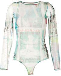 Zimmermann Glassy Printed Bodysuit - Blue