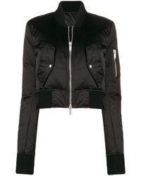 Unravel Project Укороченная Куртка-бомбер - Черный