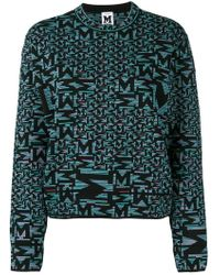 M Missoni - Black Patterned Sweater - Lyst