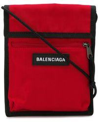 Balenciaga Bolso de mano Explorer - Rojo