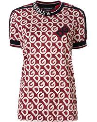 Dolce & Gabbana Dg エンブロイダリー Tシャツ - レッド