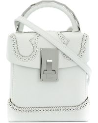 the VOLON - Brogue Detail Handbag - Lyst