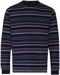 Beams Plus Camiseta a rayas - Morado