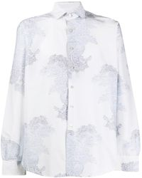 Etro Рубашка С Узором Пейсли - Белый