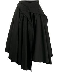 Junya Watanabe Jupe portefeuille à design superposé - Noir