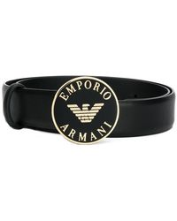 Emporio Armani - Logo Buckle Belt - Lyst