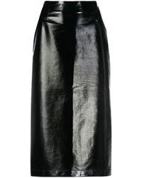 Vivetta アニマルフリーレザー スカート - ブラック