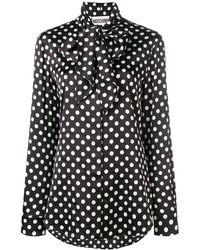 Moschino Polka-dot Print Blouse - Black