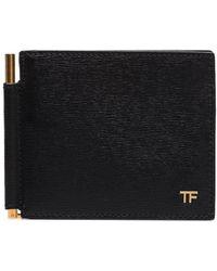 Tom Ford Бумажник С Металлическим Логотипом - Черный
