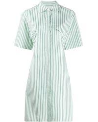Victoria, Victoria Beckham Полосатое Платье-рубашка - Многоцветный