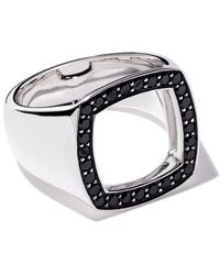 Tom Wood Ring Met Open Bedding - Metallic