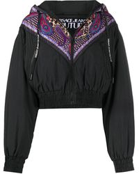 Versace Jeans Couture プリント ウィンドブレーカー - ブラック
