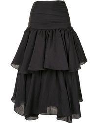 Acler Suki Draped Skirt - Black