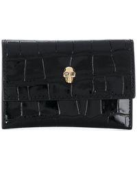Alexander McQueen Skull Stud Purse - Black