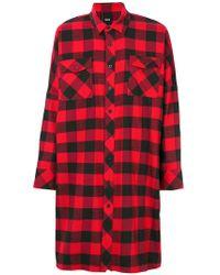 D.GNAK - Long Checked Shirt - Lyst