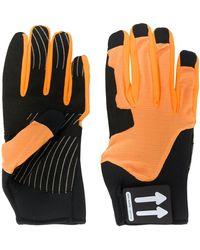 Off-White c/o Virgil Abloh Arrow Logo Two-tone Gloves - Black