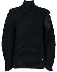 Class Roberto Cavalli - Ribbed Knit Sweater - Lyst
