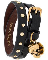 Alexander McQueen - Hammered Studs Double-wrap Bracelet - Lyst