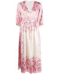 Black Coral Платье Sophie С Цветочным Принтом - Розовый