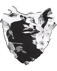 Off-White c/o Virgil Abloh Floral print bandana mask - Nero